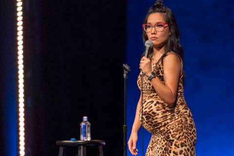 "Ali Wong in the stand-up special ""Hard Knock Wife."" (Ken Woroner/Netflix)"
