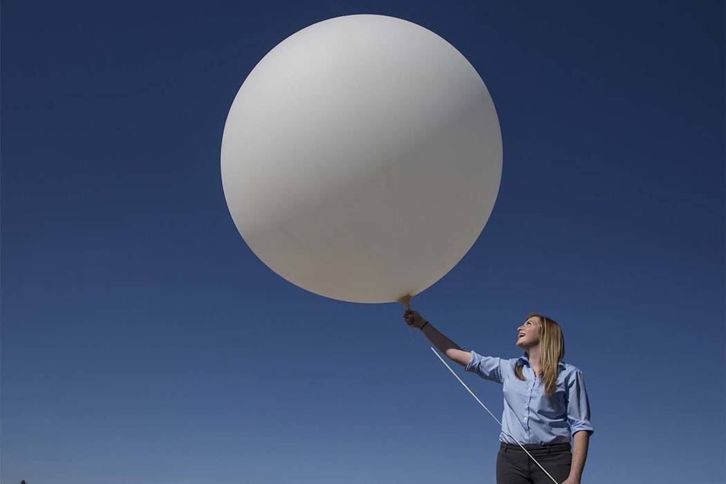 Lost over North Las Vegas: weather balloon, probably popped
