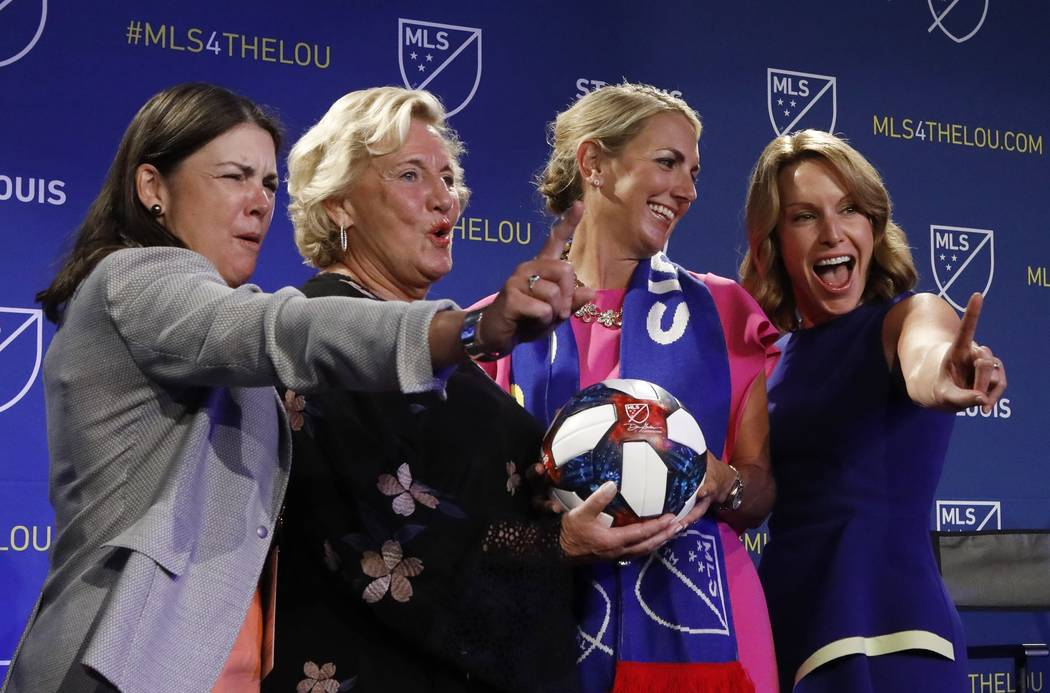 Patty Taylor, left to right, Jo Ann Taylor Kindle, Carolyn Kindle Betz, and Chrissy Taylor, the ...