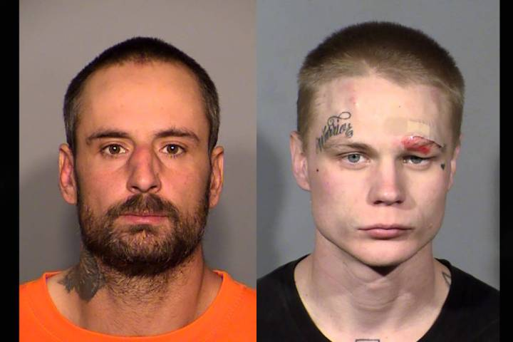 Christopher Ashoff, left, and Devin Campbell (Las Vegas Metropolitan Police Department)
