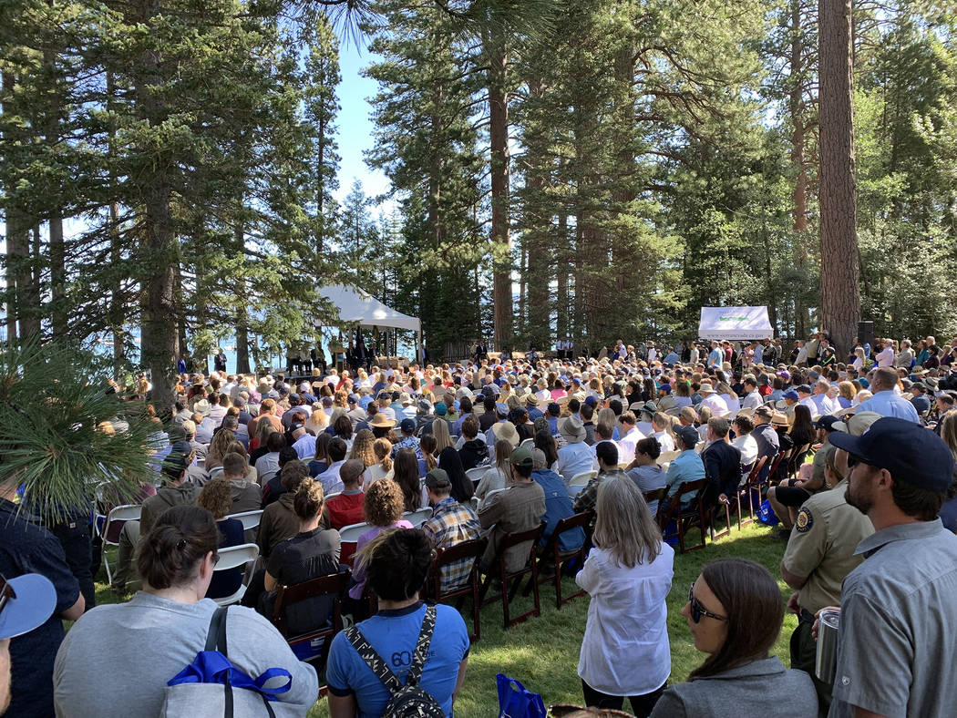 Several hundred people attended the 23rd annual Lake Tahoe Summit in South Lake Tahoe, Calif. A ...