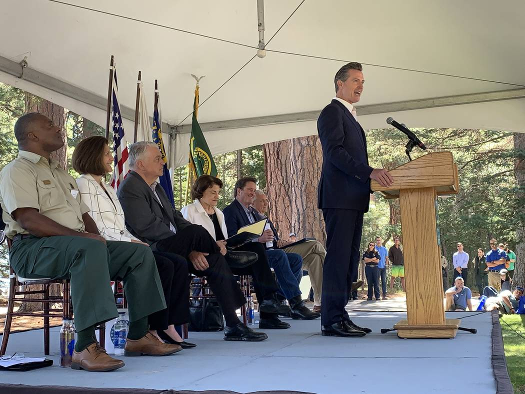 Calif. Gov. Gavin Newsom was the keynote speaker at the 23rd annual Lake Tahoe Summit in South ...