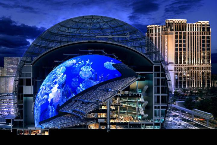 A rendered cross section of MSG Sphere at The Venetian. The state-of-the-art venue will have ni ...