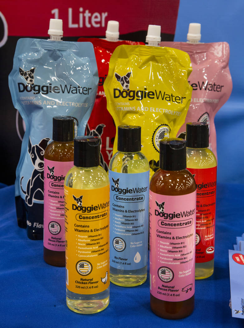 Doggie Water is some of the new items at the SuperZoo pet products show in the Mandalay Bay Con ...