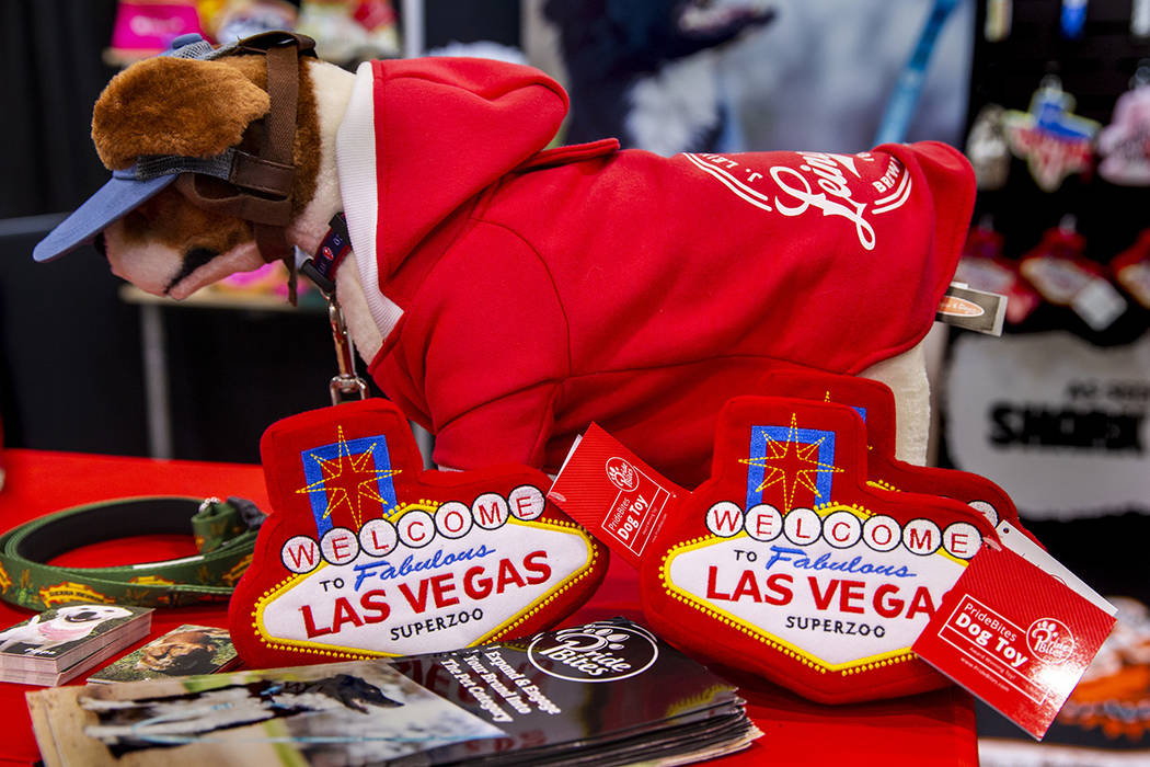 Pride Bites offers some new products at the SuperZoo pet products show in the Mandalay Bay Conv ...