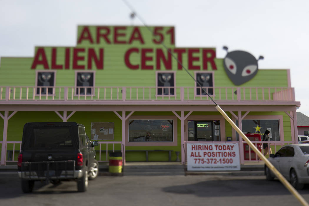 The Area 51 Alien Center in Amargosa Valley, Nevada, about 90 miles north of Las Vegas, Friday, ...
