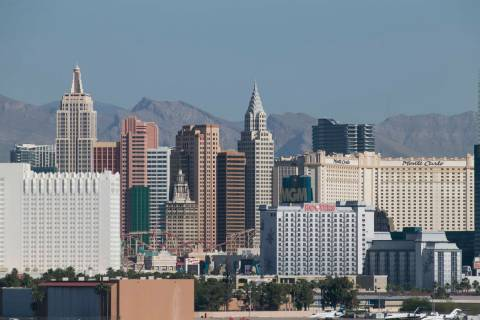 The Las Vegas Strip skyline as seen from McCarran. Richard Brian Las Vegas Review-Journal @vega ...