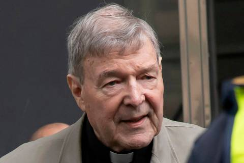 FILE - In this Feb. 26, 2019, file photo, Cardinal George Pell arrives at the County Court in M ...