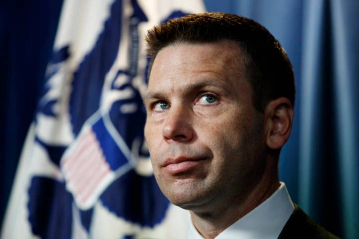 In a June 28, 2019, file photo, Department of Homeland Security (DHS) acting Secretary Kevin Mc ...