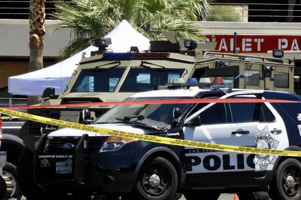 Members of SWAT and the Metropolitan Police Department were involved in the standoff with an ar ...