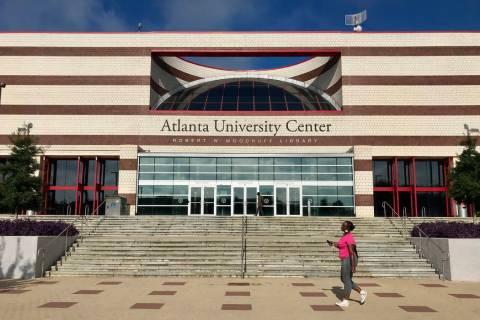The campus of Clark Atlanta University is seen Wednesday, April 21, 2019, in Atlanta. Four coll ...