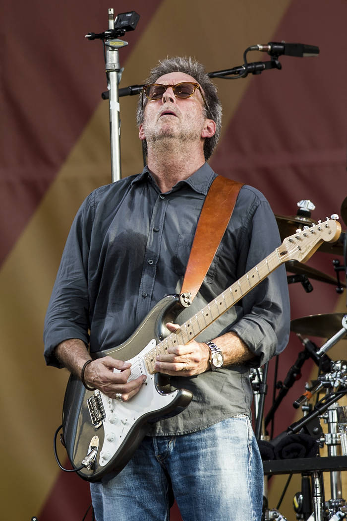 Eric Clapton performs during the New Orleans Jazz & Heritage Festival on April 27, 2014, in ...