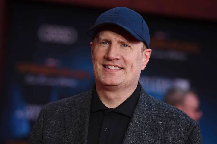 In a June 26, 2019, file photo, Marvel Studios President Kevin Feige arrives at the world premi ...