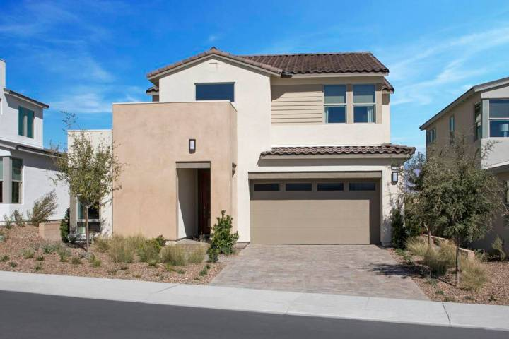 The Cobalt neighborhood by Pardee Homes in Skye Canyon has a limited number of move-in-ready ho ...