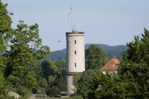 FILE - In this May 27, 2017 file photo, a castle is pictured in Bielefeld, Germany. The Germany ...