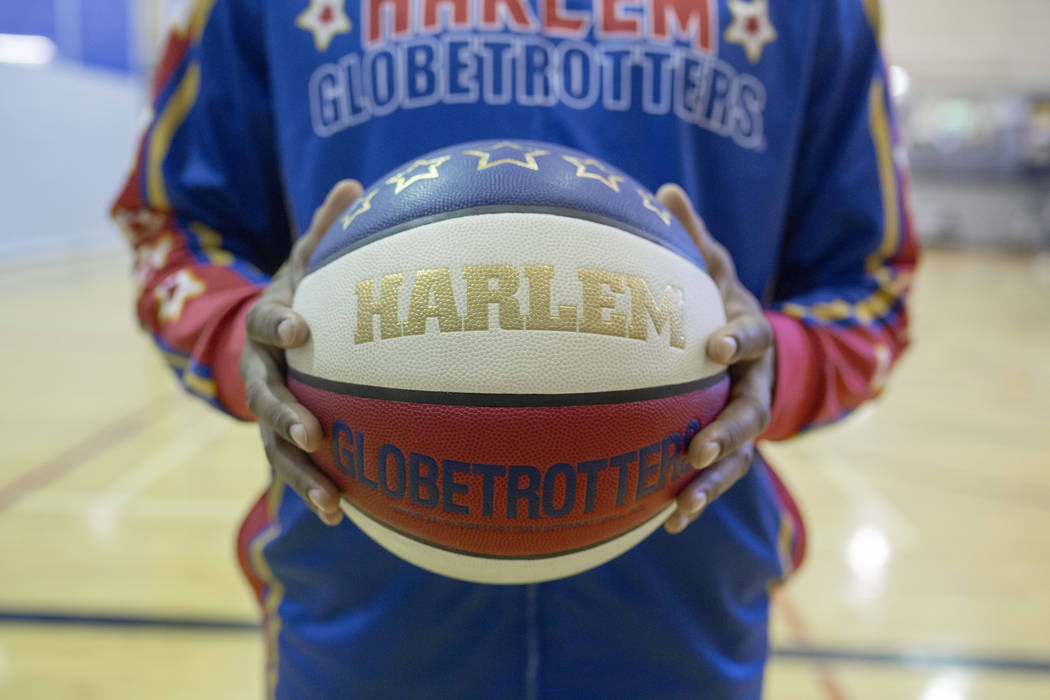 Las Vegas resident and Harlem Globetrotter Scooter Christensen at the Dula Gym in Las Vegas on ...