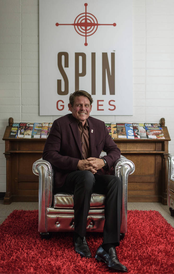 Kent Young, CEO of Reno-based Spin Games, at the Spin Games office in downtown Reno, Thursday, ...