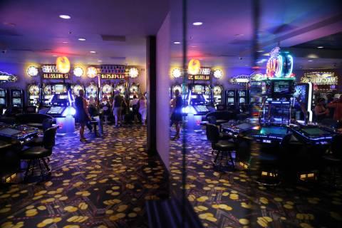The casino floor at the D Las Vegas hotel-casino in Las Vegas, Friday, Aug. 23, 2019. (Erik Ver ...