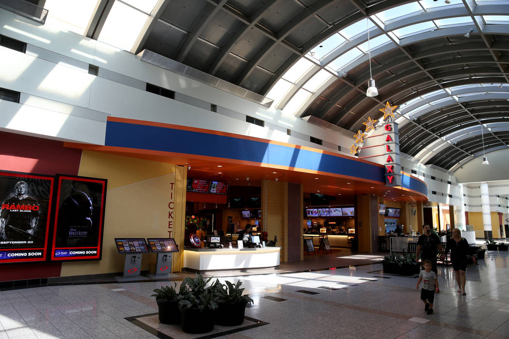 Galaxy Theaters in the Boulevard Mall in Las Vegas Wednesday, Aug. 21, 2019. (K.M. Cannon/Las V ...