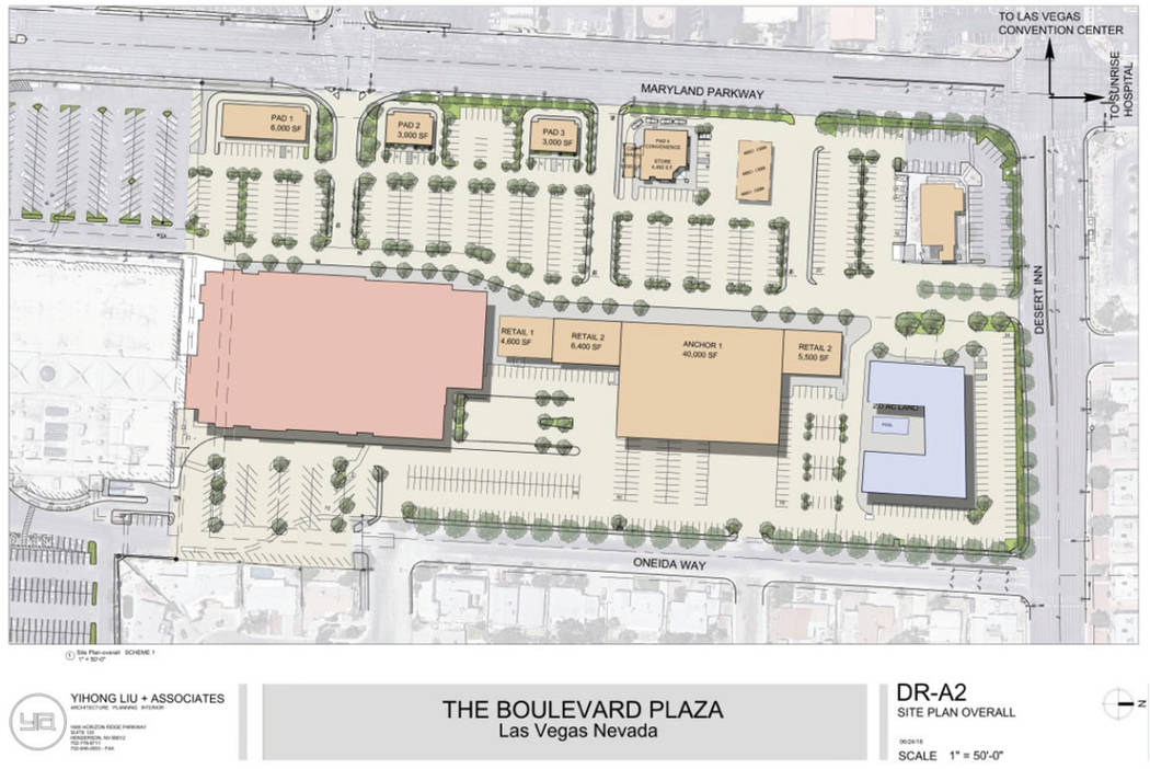 A rendering of Boulevard Plaza. (Remington Nevada)