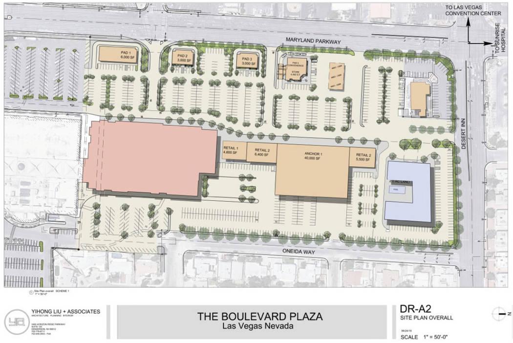 A rendering of Boulevard Plaza. (Remington Nevada)