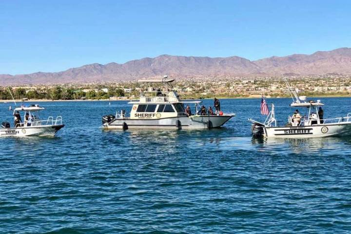 Deputies from the Mohave County Sheriff's Office Division of Boating Safety, and members of t ...