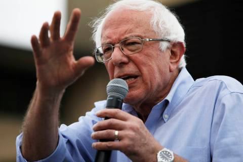 In a Aug. 11, 2019, file photo, Democratic presidential candidate Sen. Bernie Sanders, I-Vt., s ...