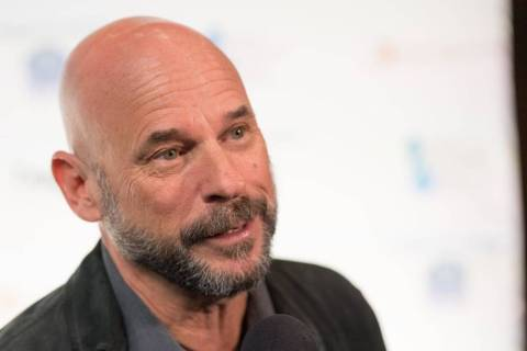 "Guy Laliberte arrives on the blue carpet for the fifth-annual ""One Night for One Drop"" by Cirqu ..."