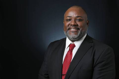 Jason Frierson, Democratic candidate for Nevada State Assembly 8, is photographed at the Las Ve ...