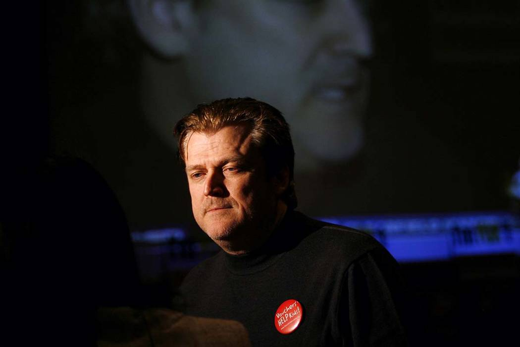 FILE - In this Nov. 6, 2007, file photo Patrick Byrne, President and CEO of Overstock.com is re ...