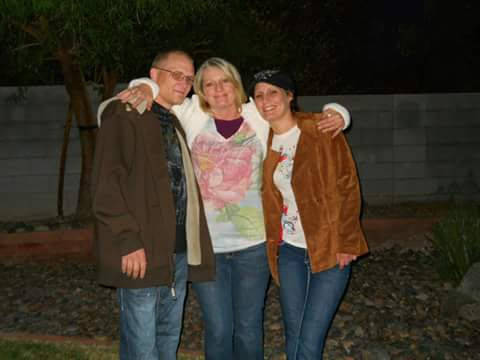 From left, Justin Colburn, Linda Moncrieff and Samantha Colburn pose in an undated photo. (Lind ...