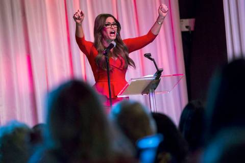 Kimberly Guilfoyle, senior advisor for Donald Trump's 2020 campaign, speaks during a leadership ...