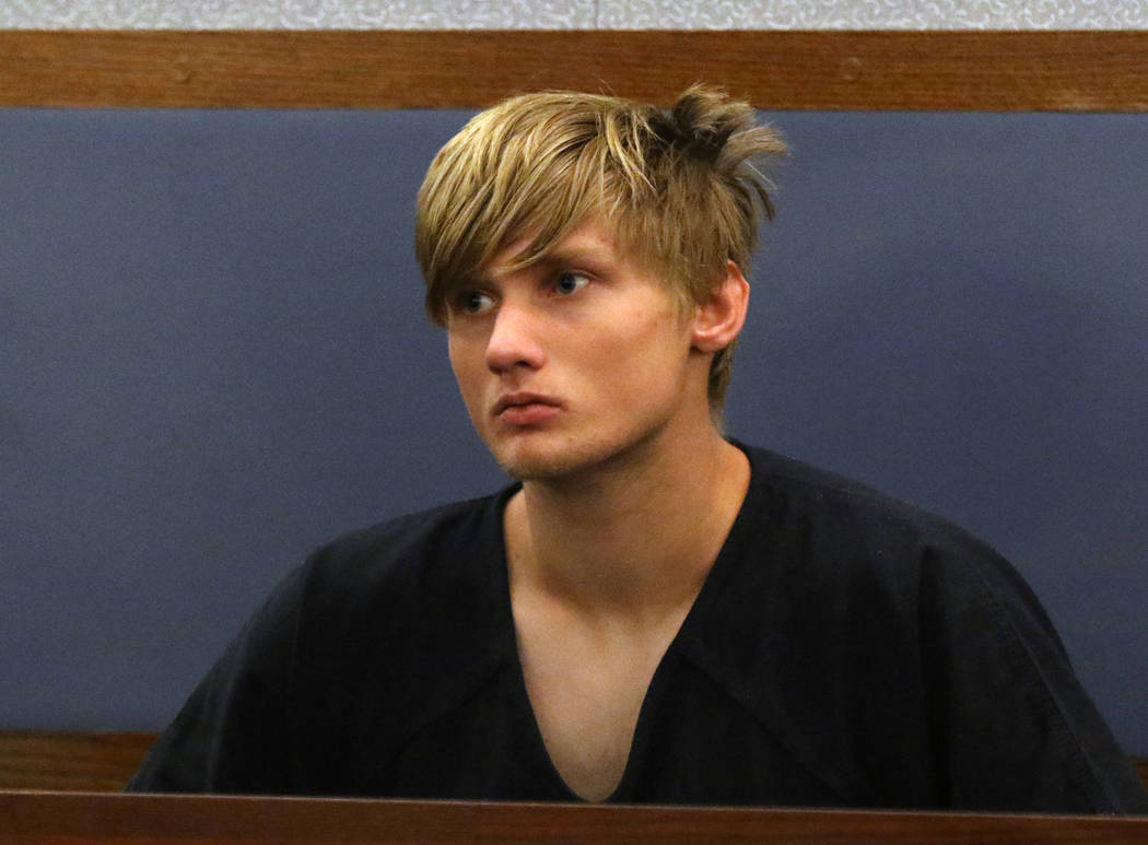 Cody Pomeroy, charged with making threats against Desert Oasis High School, appears in court at ...