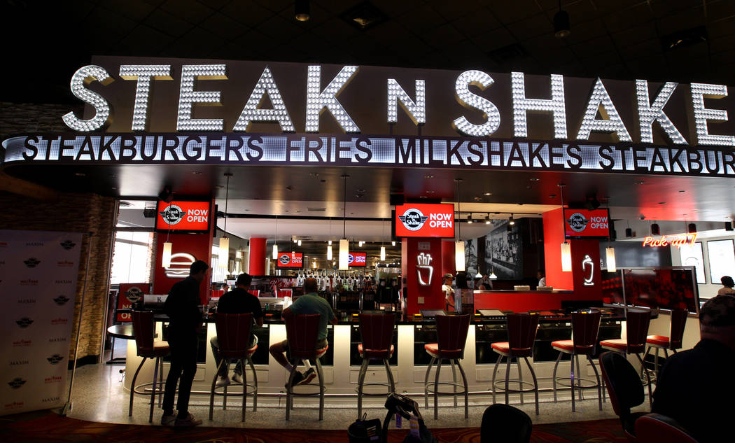 Steak 'n Shake inside Hooters Hotel on opening day Thursday, April 5, 2018. The restaurant, jus ...