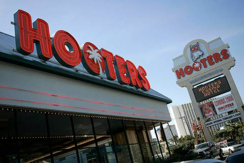 Hooters hotel-casino, located one block from the Las Vegas Strip, is seen in Las Vegas. (Jae C. ...
