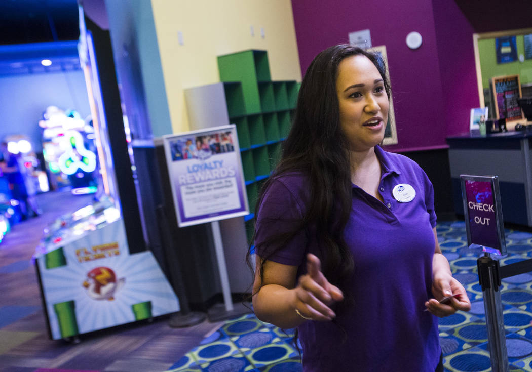 Kasey Wong, a teammate at Kids Quest at Red Rock Resort, talks about her job in Las Vegas on Tu ...