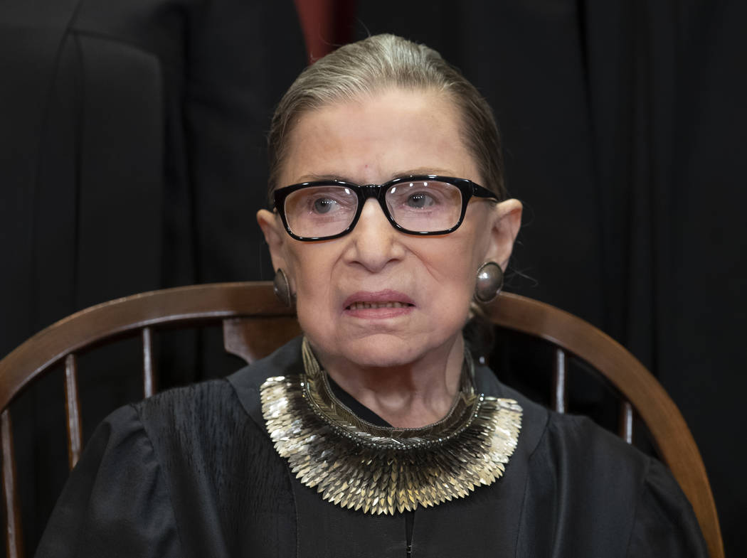 The Supreme Court announced Aug. 23, 2019, that U.S. Supreme Court Justice Ruth Bader Ginsburg ...