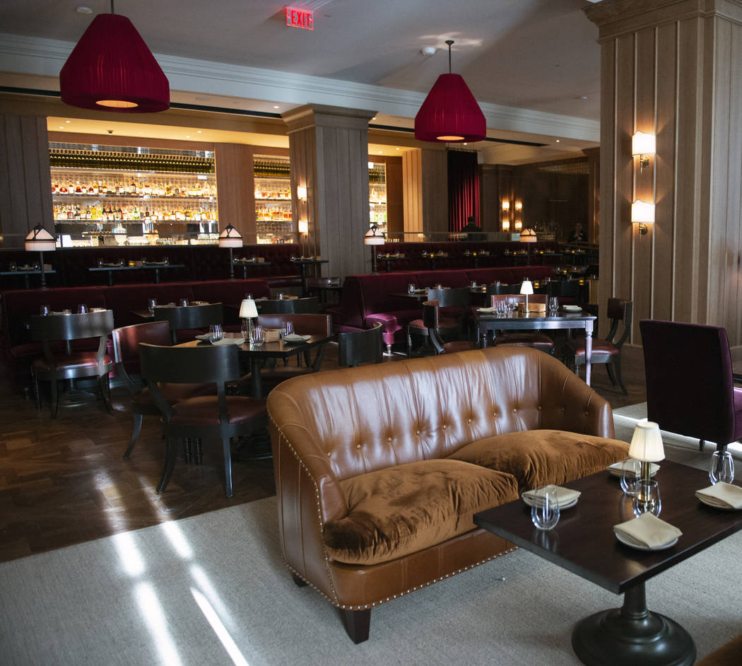 The dining area at NoMad Bar and Restaurant at Park MGM in Las Vegas, Monday, Oct. 8, 2018. Car ...