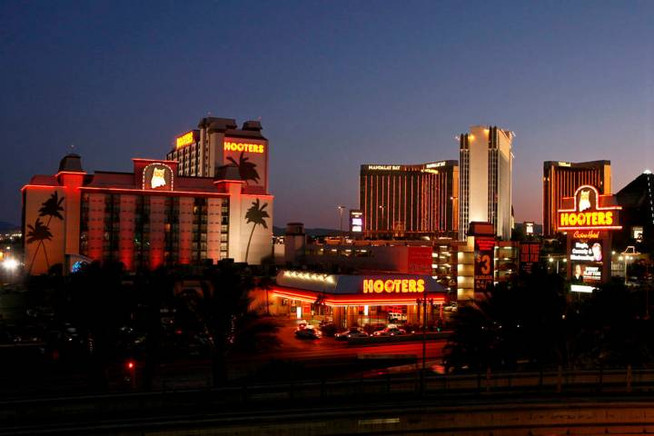 In this Aug. 26, 2008, file photo, Hooters hotel-casino, which saw strong revenue numbers in th ...