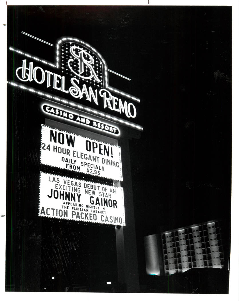 This Aug. 28, 1989, photo shows Hotel San Remo. (File Photo/Las Vegas Review-Journal)