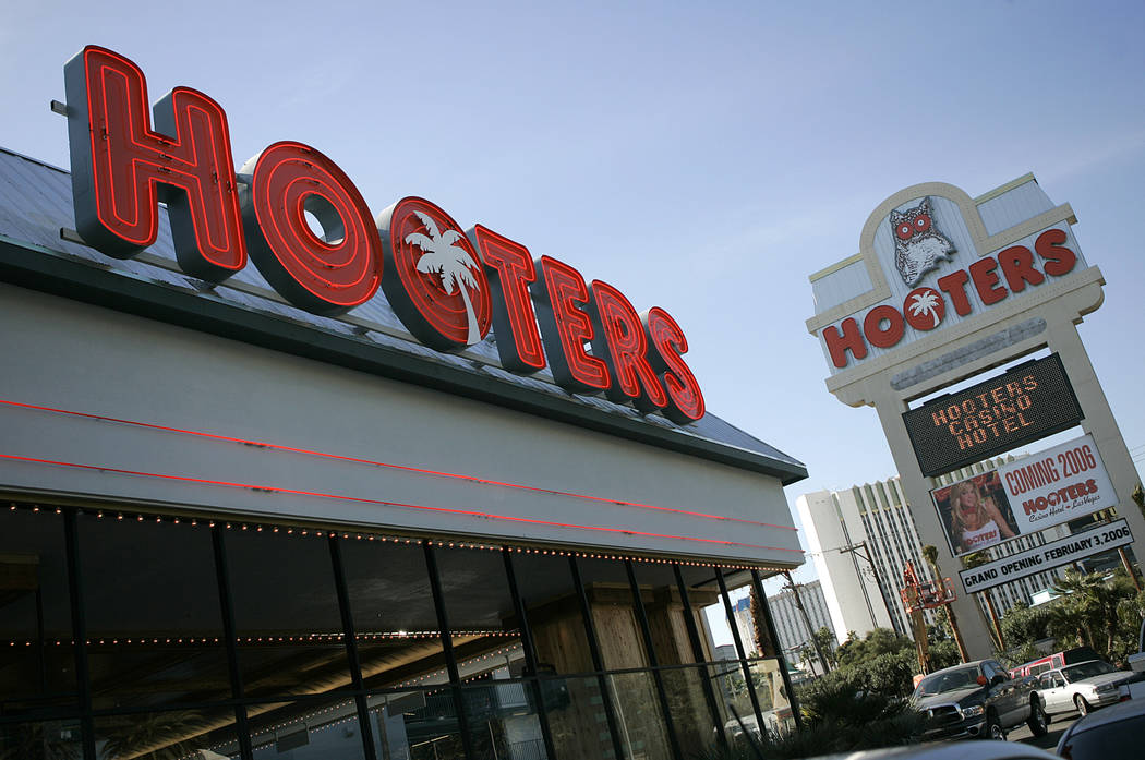 In this Wednesday, Feb.1, 2006 file photo, Hooters hotel-casino, located one block from the Las ...