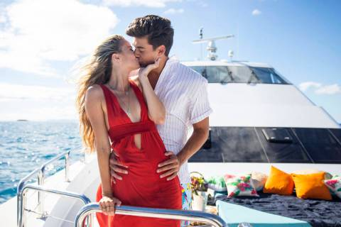Love Island - Pictured: Elizabeth Weber and Zac Mirabelli. The twentieth episode of Love Island ...