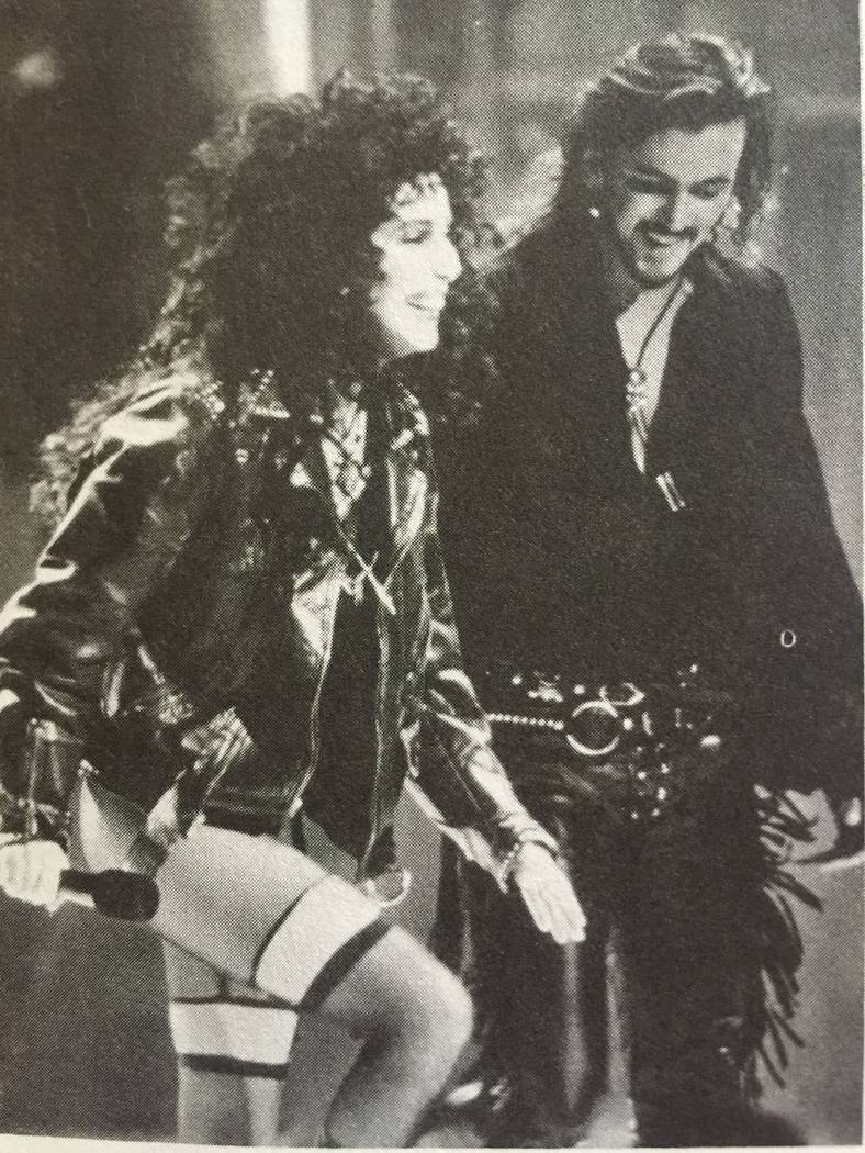 """Troy Burgess and Cher are shown during the 1989 """"Heart of Stone"""" world tour. (Troy Burgess)"""