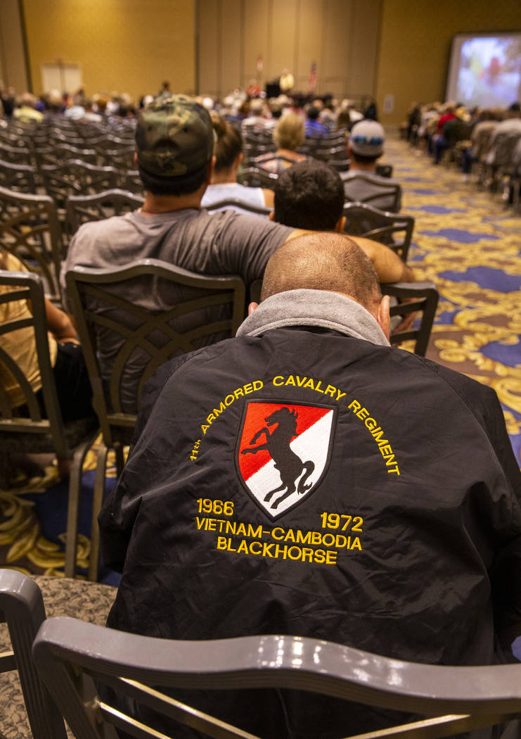 Veterans and spouses who served in Vietnam attend the 11th Armored Calvary Regiment 34th annual ...