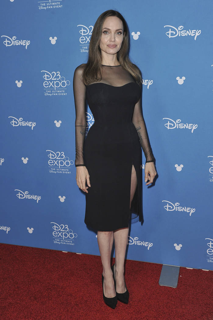 Angelina Jolie attends the Go Behind the Scenes with the Walt Disney Studios press line at the ...