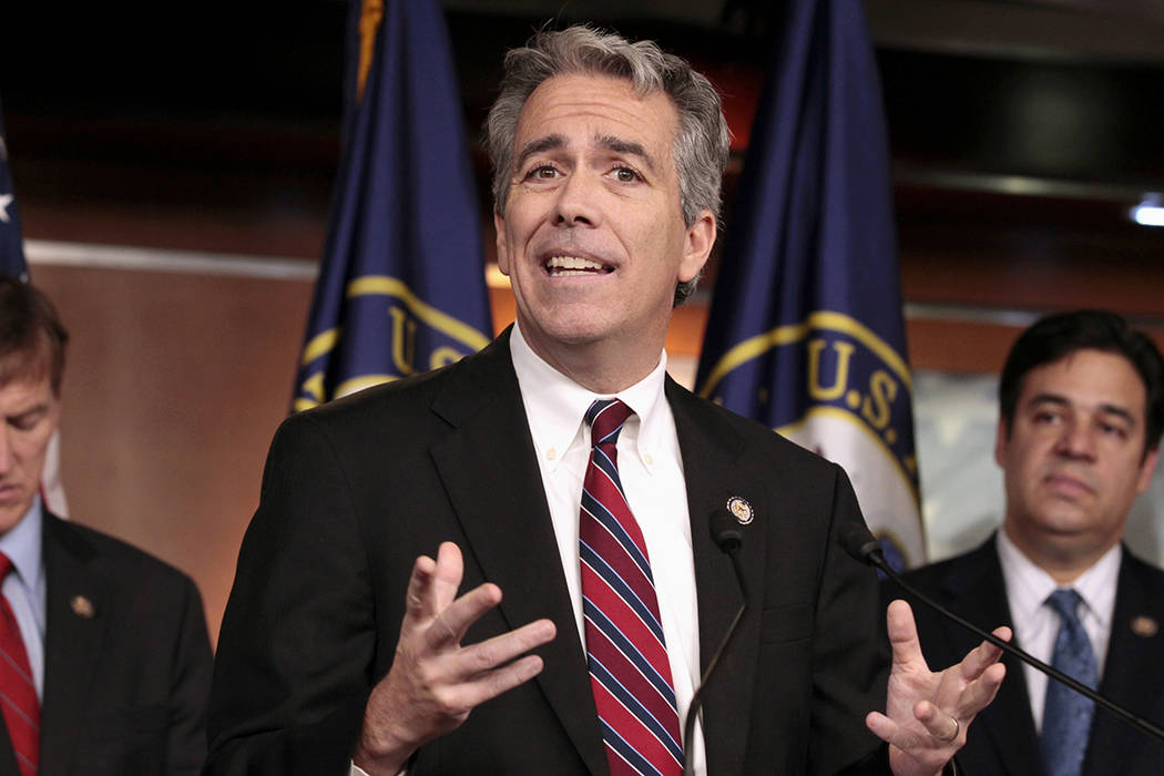 In this Nov. 15, 2011, file photo former U.S. Rep. Joe Walsh, R-Ill., gestures during a news co ...