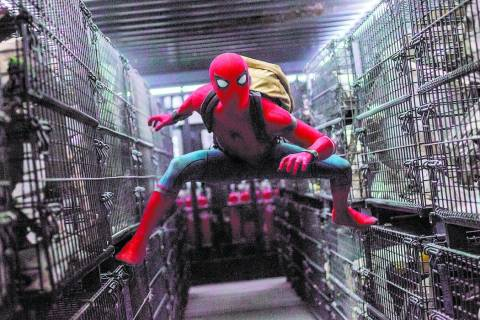 "Tom Holland stars as Spider-Man in Columbia Pictures' ""Spider-Man Homecoming"". Chuck Zlotnick S ..."