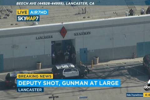 FILE - This Wednesday, Aug. 21, 2019 file image taken from video provided by KABC-TV shows the ...