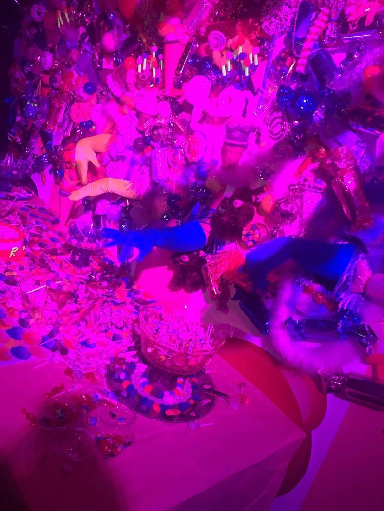 "A scene from ""Candy World"" at Light Nightclub at Mandalay Bay on Saturday, Aug. 24, 2019. (John ..."