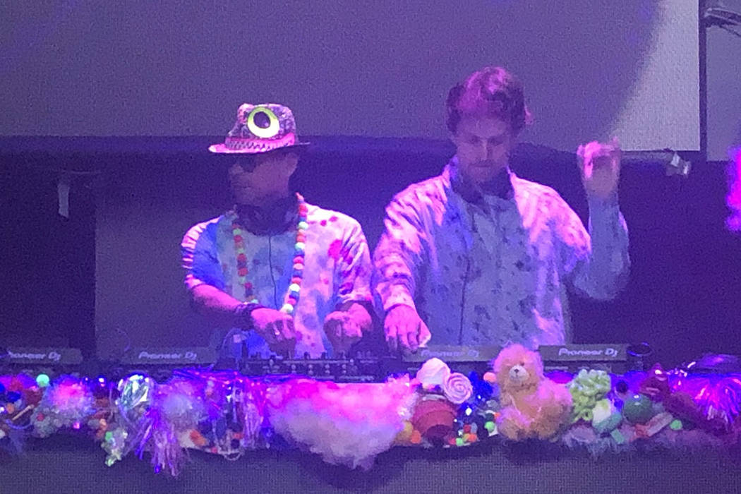 "Guy Laliberte and German DJ Nico Stojan are shown at ""Candy World"" at Light Nightclub at Mandal ..."